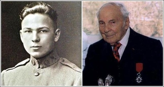 Two photos of Frank Buckles