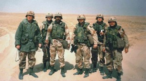 Photo of soldiers in Gulf War