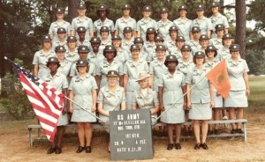 Graduating female soldiers