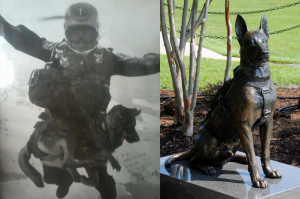 U.S. Army and Marine Corps Veteran Jesse Salvador Mendez, the first person to parachute free fall with a K-9