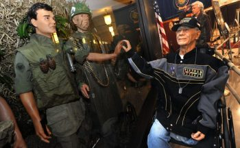 IMAGE: A Vietnam displat at VA's central office honoring Vietnam Veterans