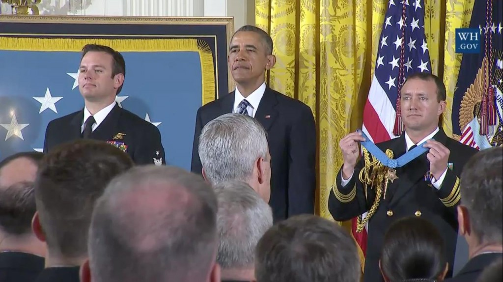 Edward Byers receives the Medal of Honor