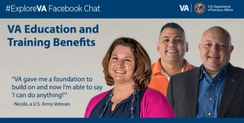 Image of a graphic with information on Explore VA Facebook chat