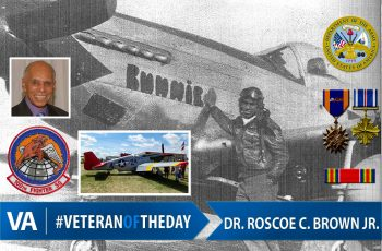 Veteran of the day Dr. Roscoe C. Brown Jr.