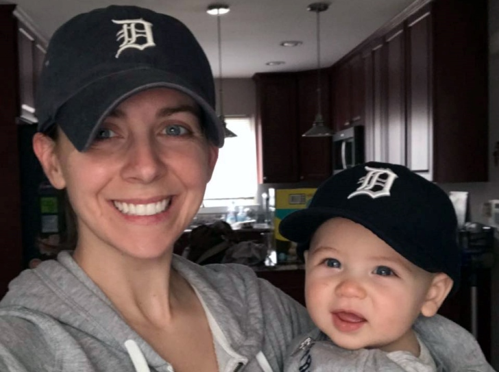 image of Ashleigh Byrnes and her son