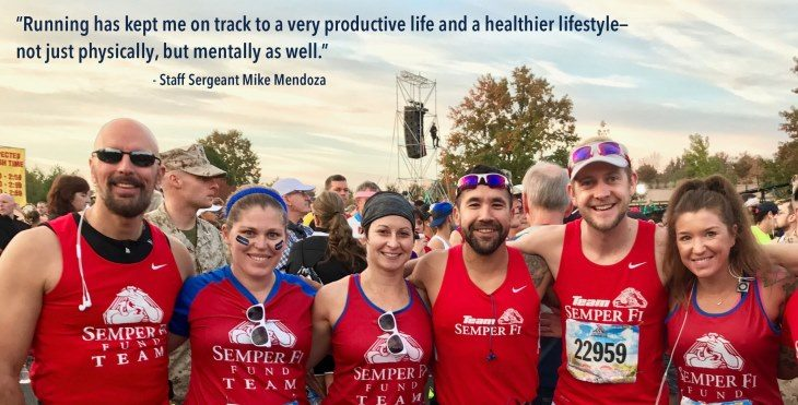 group picture of Semper Fi runners.
