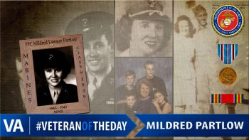Mildred Lawso Partlow - Veteran of the Day