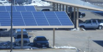 image of covered car parking with solar pannels for roofs.