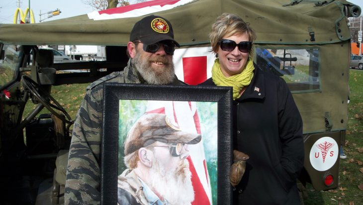 Laura Taylor with Patriot Guard Rider