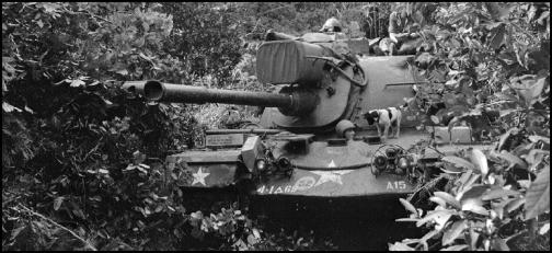 Image of a M48A3 Tank 1st Bn 69th Armor 4th Infantry Division Vietnam