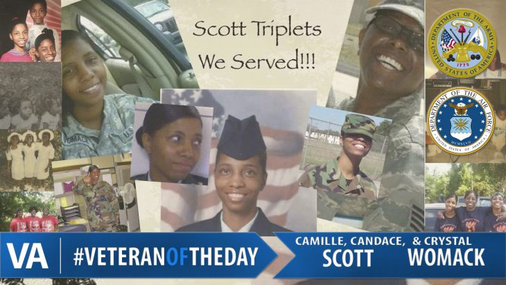 Veteran of the Day Crystal Womack, Camille and Candace Scott