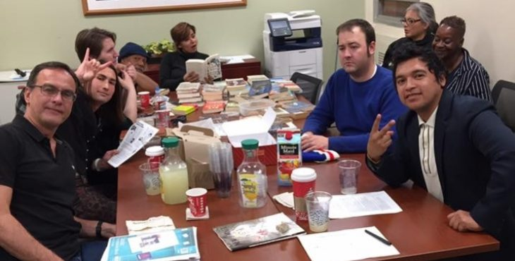 Group image of WordCommando at a table.