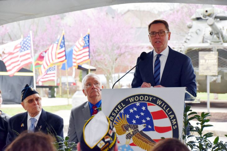 Lexington Mayor Jim Gray speaks at an event honoring Gold Star Families.