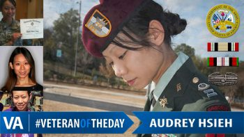 Veteran of the Day Audrey Hseih