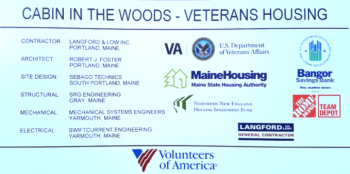Image: Cabins in the Woods construction site billboard