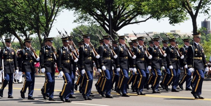 Image of Amry soldiers marching in a parade
