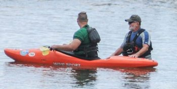 IMAGE: Veterans Kayak during the Summer Sports clinic