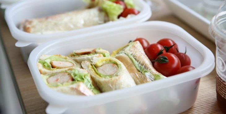 Image of lunch in a plastic container