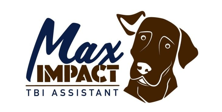 Gaphic: Max Impact logo incorpprating a dog.