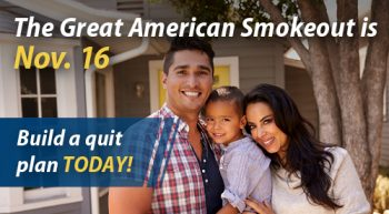 Image: Great American Smokeout Twitter Townhall graphic
