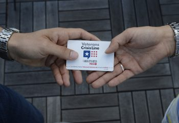 Crisi Line Card with hands