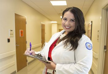Dr. Johanna S. Rivera Anazagasty, poses for a photo at the VA's outpatient clinic in McAllen, Texas, on January 3, 2018.