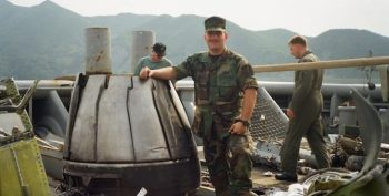 Image of Michael Cannon in uniform while serving in South Korea.