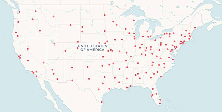 Map Of Va Hospitals In Us VA becomes first hospital system to release opioid prescribing