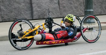 veteran in handcycle