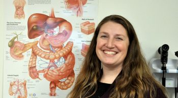 Nicole Bundas, Army Veteran and human resources staffer at the Ann Arbor VA, was diagnosed with Crohn's disease when she was training at Fort Dix for a deployment to Iraq. (Photo by Brian Hayes)