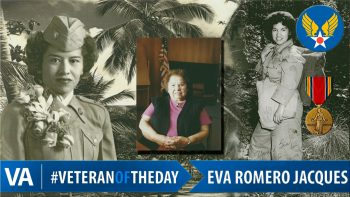 Eva Romero Jacques - Veteran of the Day