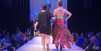 IMAGE: Sarah Alder and Tiffany Freeze on the runway