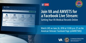 IMAGE: Facebook Live graphic for MyhealtheVet