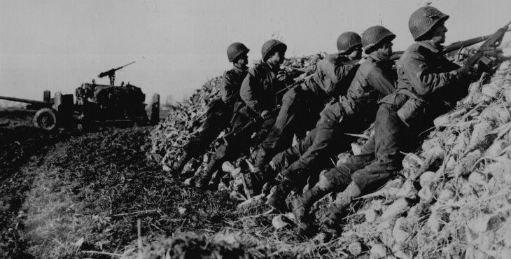 IMAGE: Americans defend against German agressors in Holland during WWII>