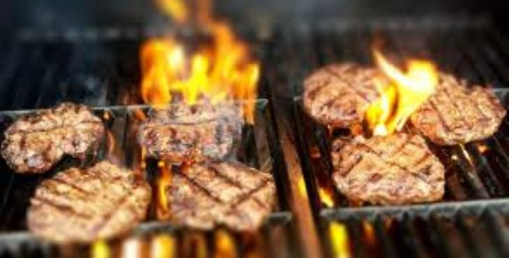 IMAGE: Burgers on the grill