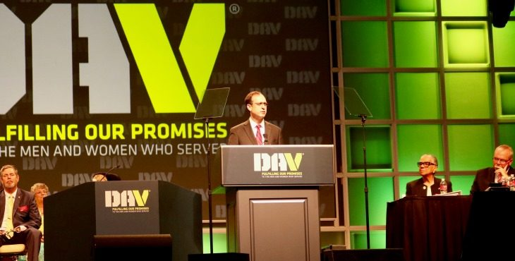 IMAGE: Acting VA Secretary Peter O'Rourke speaks to DAV members during 2018 national convention.