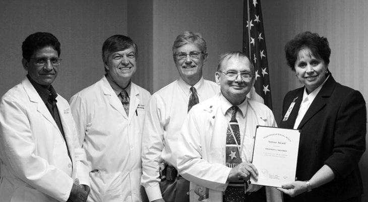 Dr. Sol Solomon, chief of endocrinology and metabolism, Memphis VA Medical Center, received an award in 2007 for 40 years of federal service.