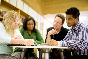 Students at table with professor