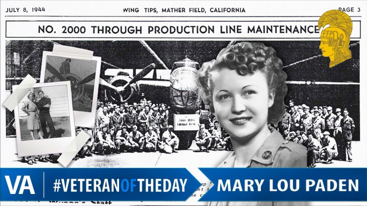 Mary Lou Paden - Veteran of the Day