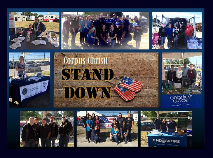 Photo collage of photos taken during the Corpus Christi Stand Down, which took place November 2, 2018, in downtown Corpus Christi.