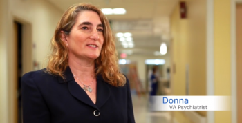 Psychiatrist Dr. Donna Ames chose a career at VA because of a Veteran-centered approach to recovery and rehabilitation and a spirit of innovation.