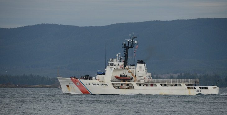 IMAGE: USCG Alert departs its homeport of Astoria, Oregon. Alert is a 210-foot cutter that conducts patrols from British Columbia to South America