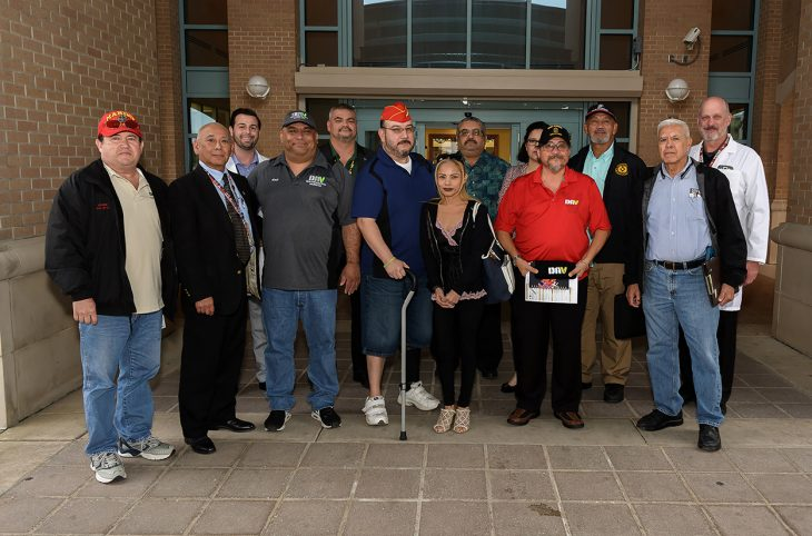 Members of the sub Management Advisory Council (MAC) for the VA outpatient clinic in Harlingen, Texas, pose for a group photo on November 28, 2018. (U.S. Department of Veterans Affairs photo by Reynaldo Leal)