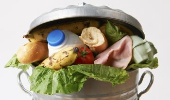 IMAGE: Food in a trash can