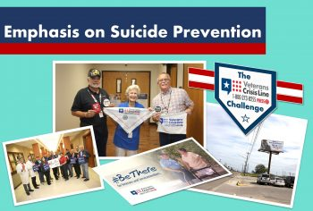 VA Texas Valley Coastal Bend Health Care System (VCB) outreach efforts focus on suicide prevention. (U.S. Department of Veterans Affairs photo illustration by Luis H. Loza Gutierrez)