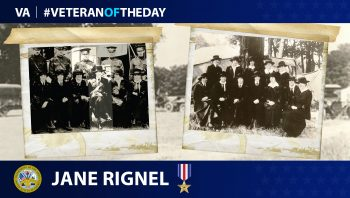 Veteran of the Day graphic for Jane Rignel