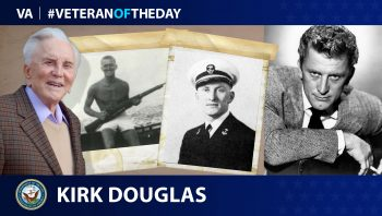 Veteran of the Day graphic for Kirk Douglas