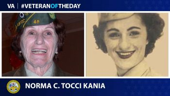 Veteran of the Day graphic featuring Norma Tocci Kania