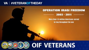 #VeteranoftheDay graphic for OIF Veterans