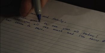 IMAGE: Screen capture of movie suicide note